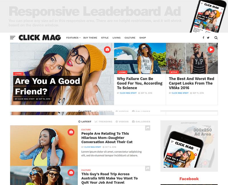 Click-Mag theme