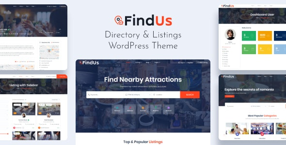 Findus Business Listing WordPress Theme