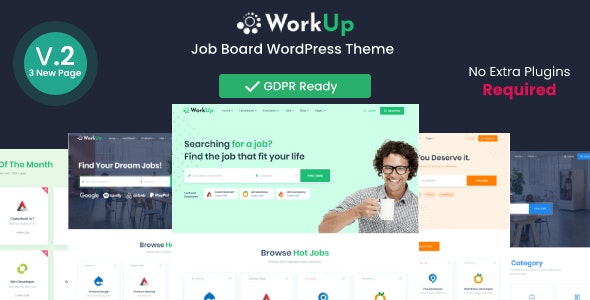 WorkUp Job Board Theme